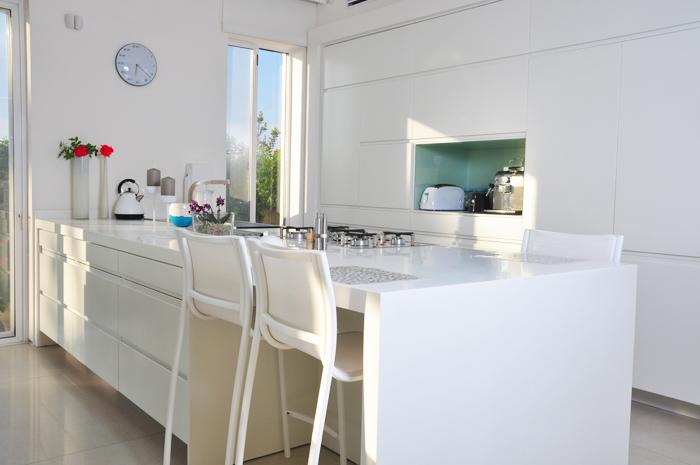 עיצוב מטבחים לבנים מודרניים