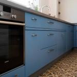 עיצוב מטבח כחול